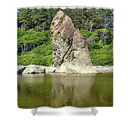 Sea Stack At Ruby Beach  Shower Curtain