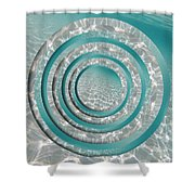 Seabed Circles Shower Curtain