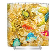 Seaside Simulation Shower Curtain