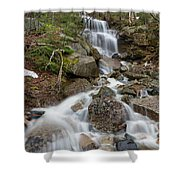 Seasonal Waterfall - Franconia Notch, New Hampshire Shower Curtain by Erin Paul Donovan