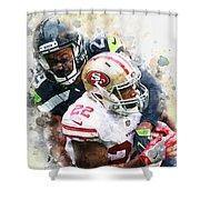 Seattle Seahawks Against San Francisco 49ers Shower Curtain