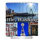 Seattle Washington Waterfront 01 Shower Curtain