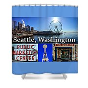Seattle Washington Waterfront 01 Shower Curtain