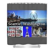 Seattle Washington Waterfront 02 Shower Curtain