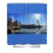 Seattle Washington Waterfront  Shower Curtain