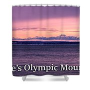 Seattle's Olympic Mountains Shower Curtain