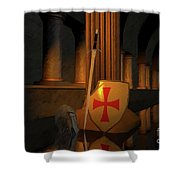 Secret Of The Knights Templar Shower Curtain