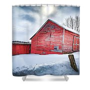 See Red. Shower Curtain by Kendall McKernon