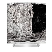 Self In Black Coloured Oil Transfer Drawing 11 Shower Curtain