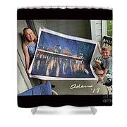 Self Portrait 21 - Finding Stored Treasures Shower Curtain