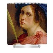 Self Portrait As A Female Martyr 1615 Shower Curtain