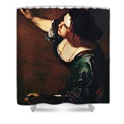 Self Portrait As The Allegory Of Painting 1639 Shower Curtain