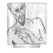 Self-portrait Pencil Reach 11 Shower Curtain