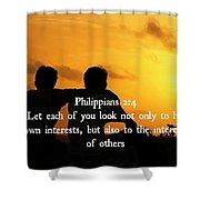 Selflessness 2 4  Shower Curtain