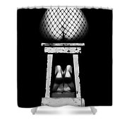 Sensual Woman Sitting Rear View Shower Curtain