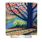 Sentinel By The Road Shower Curtain