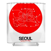 Seoul Red Subway Map Shower Curtain
