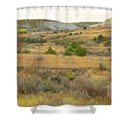 September's Golden Treasure Shower Curtain