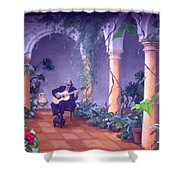 Sergovia In A Spanish Garden Shower Curtain