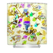 Served Ice-cream Cold Shower Curtain