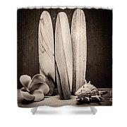 Seventies Surfing Shower Curtain
