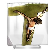 Shadow Of The Cross Shower Curtain