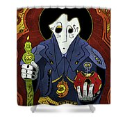 Shadow Priest Shower Curtain