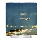 Shadows And Pigeons  Shower Curtain