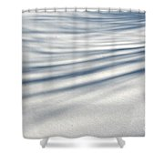 Shadows In The Snow Abstract By Artist4god Shower Curtain by Rose Santuci-Sofranko