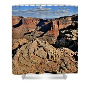 Shafer Canyon In Canyonlands Np Shower Curtain