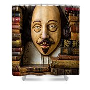 Shakespeare With Old Books Shower Curtain