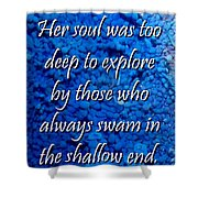 Shallow End Shower Curtain