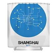 Shanghai Blue Subway Map Shower Curtain