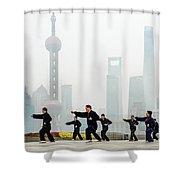 Shanghai Morning Tai Chi Shower Curtain