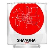 Shanghai Red Subway Map Shower Curtain