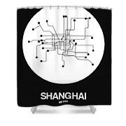 Shanghai White Subway Map Shower Curtain