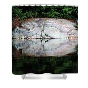 Shawanaga Rock And Reflections Iv Shower Curtain
