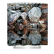 Shawanaga Rock And Reflections Vi Shower Curtain