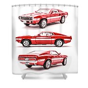 Shelby Gt500  Shower Curtain