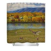 Shenandoah Valley Hawk Shower Curtain