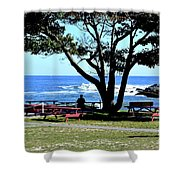 Ship Cove Park Shower Curtain