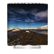 Shoreline With Driftice Shower Curtain