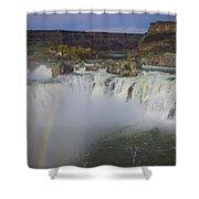 Shoshone Falls Rainbow Shower Curtain