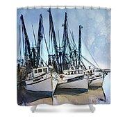 Shrimp Boats At Darien Shower Curtain