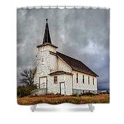 Shuttered Church In Cartwright North Dakota Shower Curtain