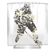Sidney Crosby Pittsburgh Penguins Pixel Art 23 Shower Curtain