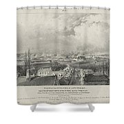 Siege Of The Citadel Of Antwerp Shower Curtain