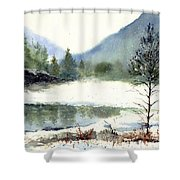 Silent Exile Shower Curtain