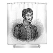 Simon Bolivar Venezuelan Statesman, Soldier, And Revolutionary Leader Shower Curtain