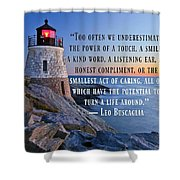 Simplicity Of Life 822 Shower Curtain